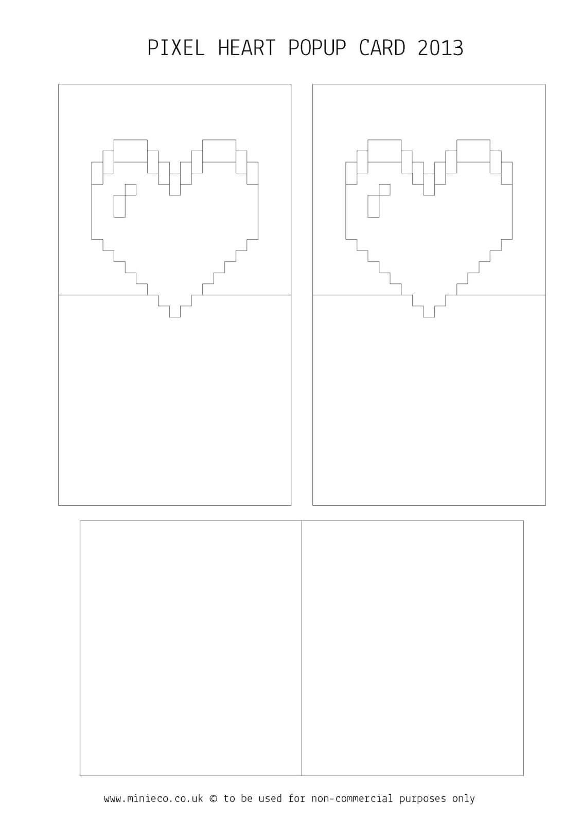 Pixel Heart Pop Up Card Template ] - Day Pixel Heart Pop Up For Pixel Heart Pop Up Card Template