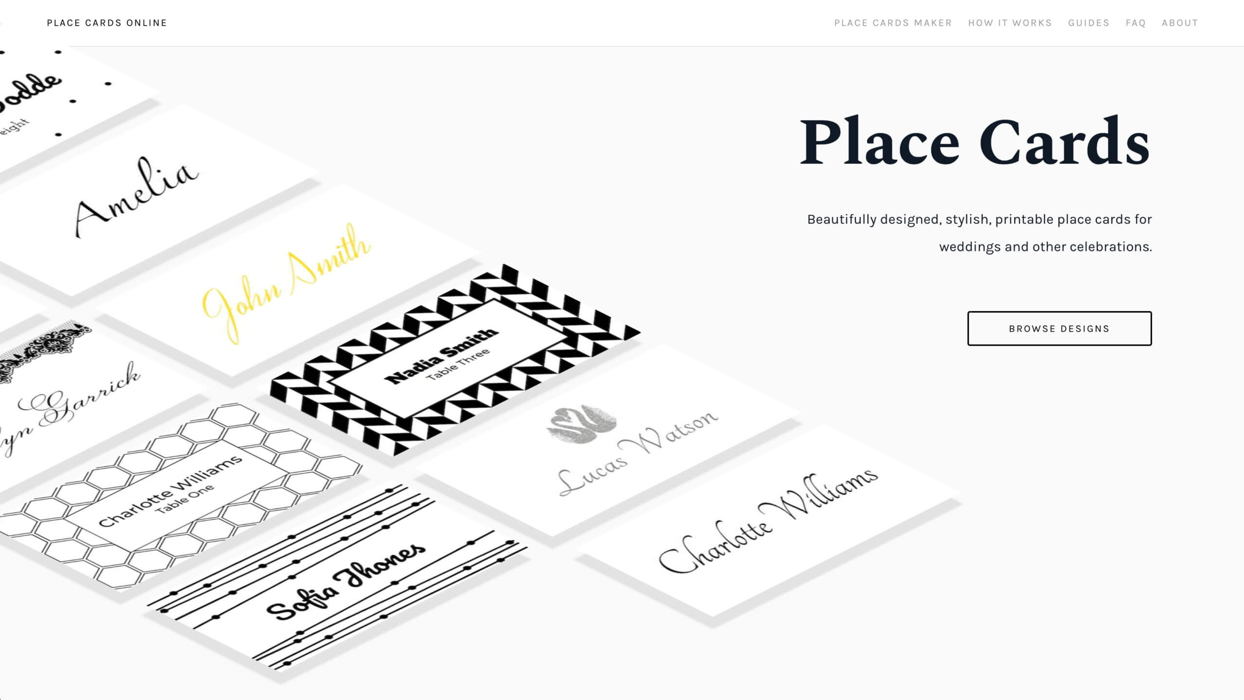 Place Cards Online - Place Cards Maker. Beautifully Designed In Celebrate It Templates Place Cards