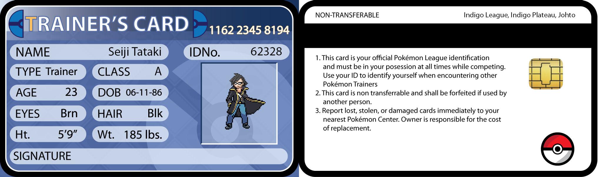 Pokemon Trainer Cardseijitataki On Deviantart Inside Pokemon Trainer Card Template