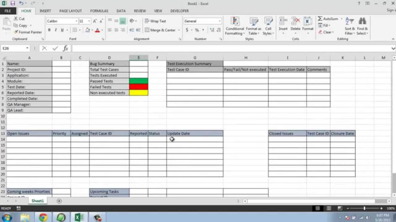Post Conference Report Template Awesome Ry Test Execution In Test Summary Report Excel Template