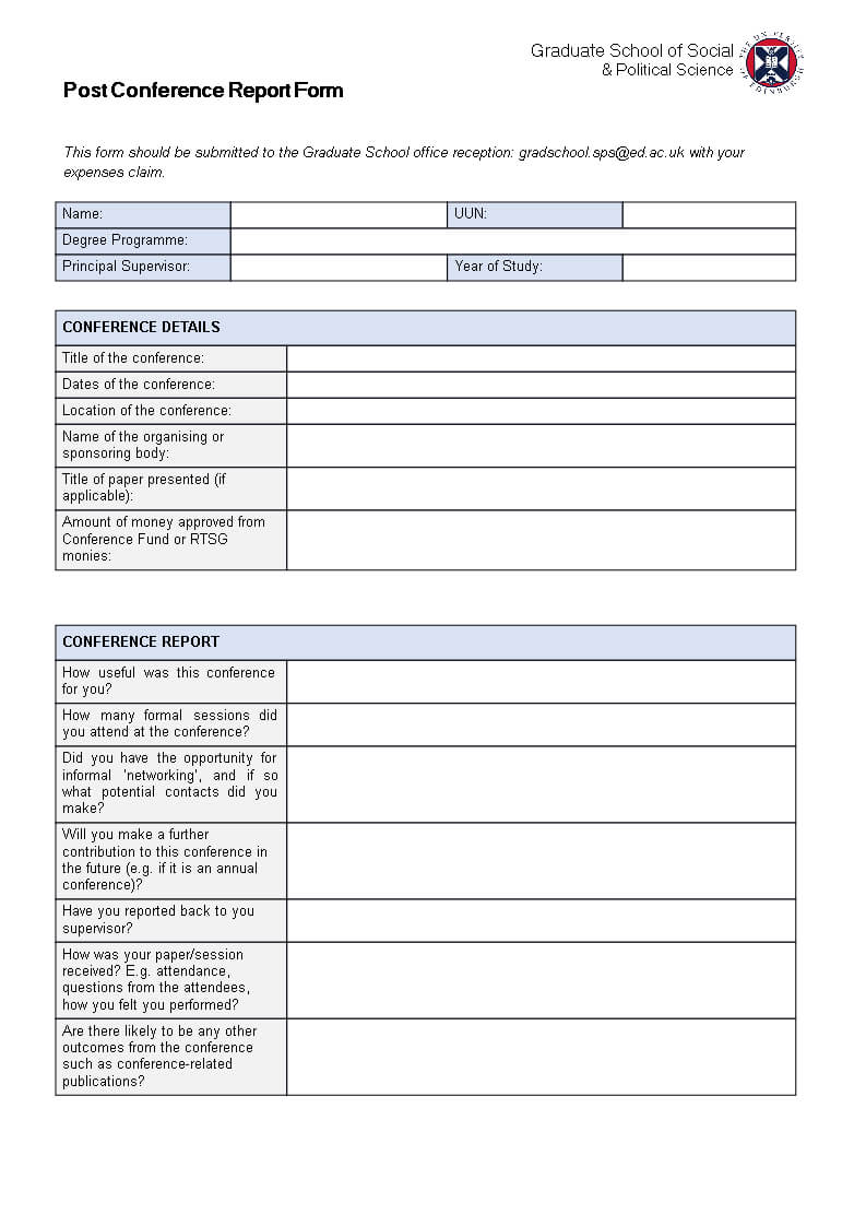 Post Conference Report   Templates At Allbusinesstemplates With Regard To Conference Report Template