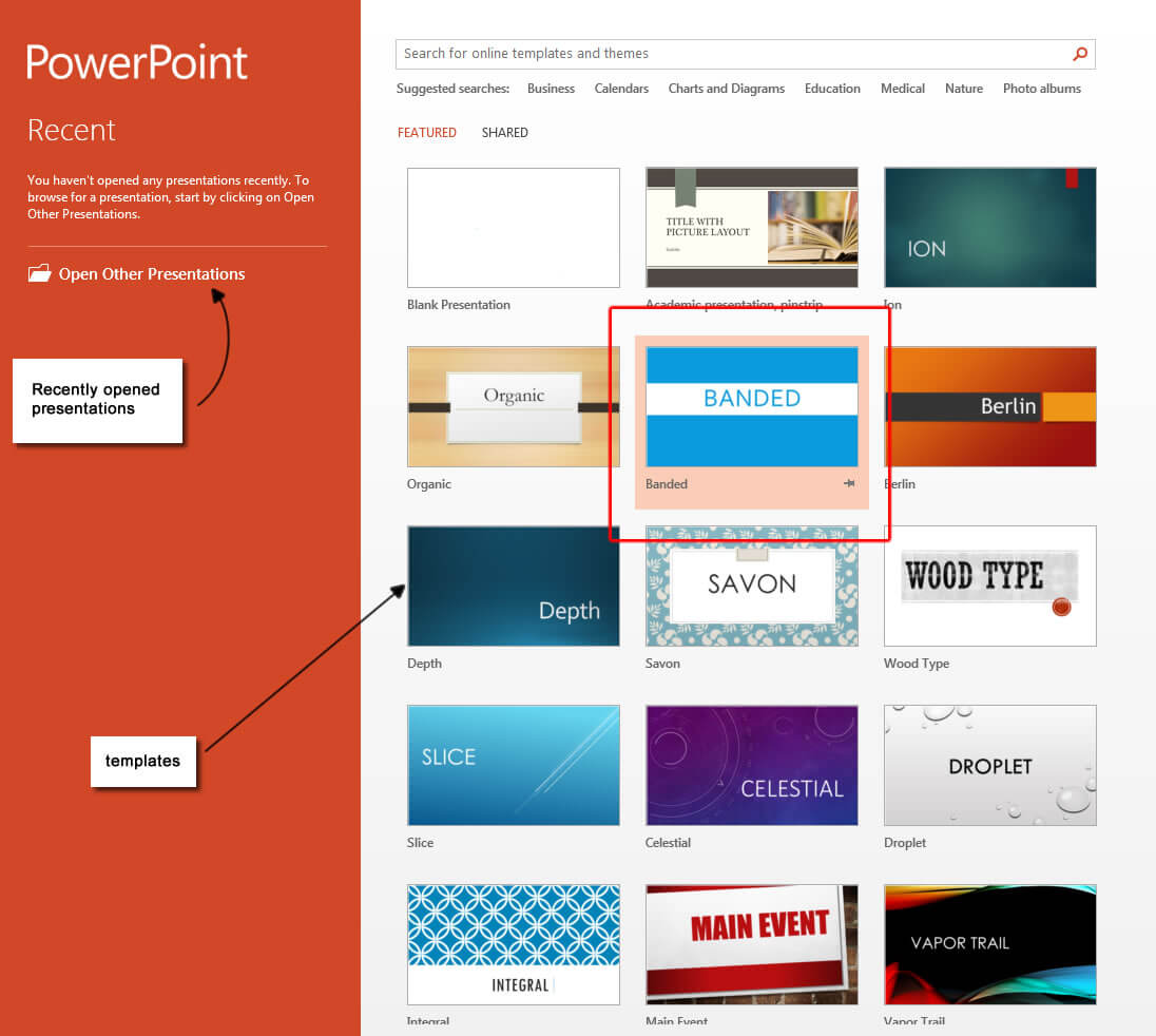 Powerpoint 2013 Templates – Microsoft Powerpoint 2013 Tutorials Throughout Powerpoint 2013 Template Location