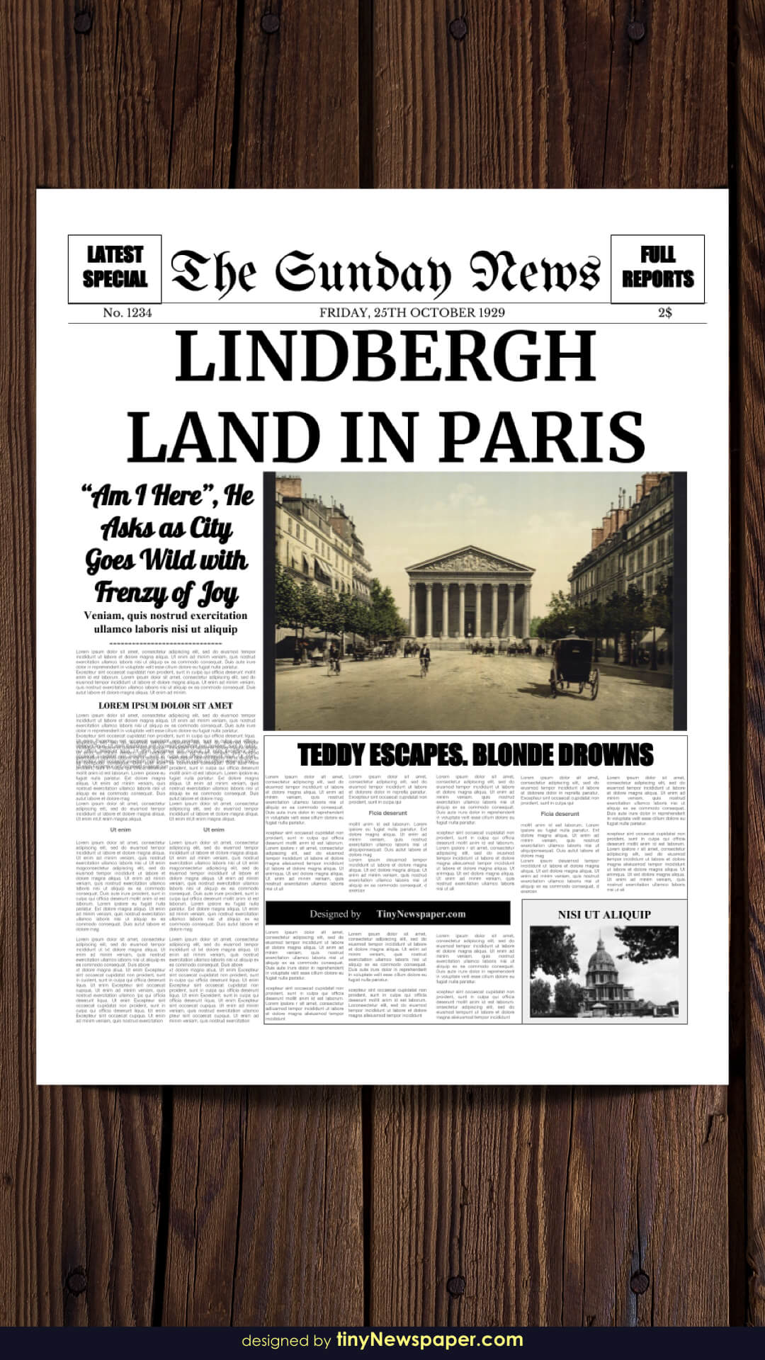 Powerpoint Newspaper Template With Newspaper Template For Powerpoint