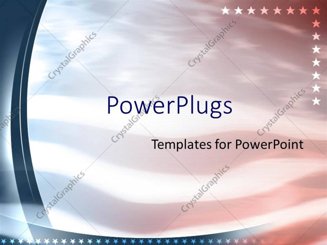 Powerpoint Template: American Flag Patriotic United States With Regard To Patriotic Powerpoint Template