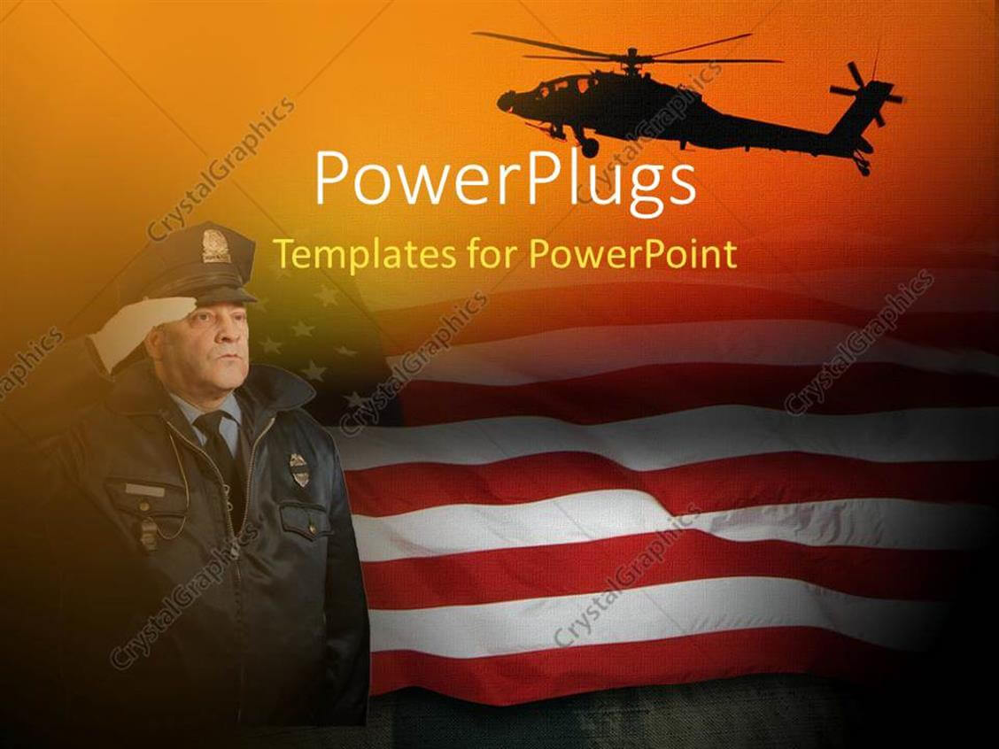 Powerpoint Template: An American Soldier Saluting With Regarding Raf Powerpoint Template