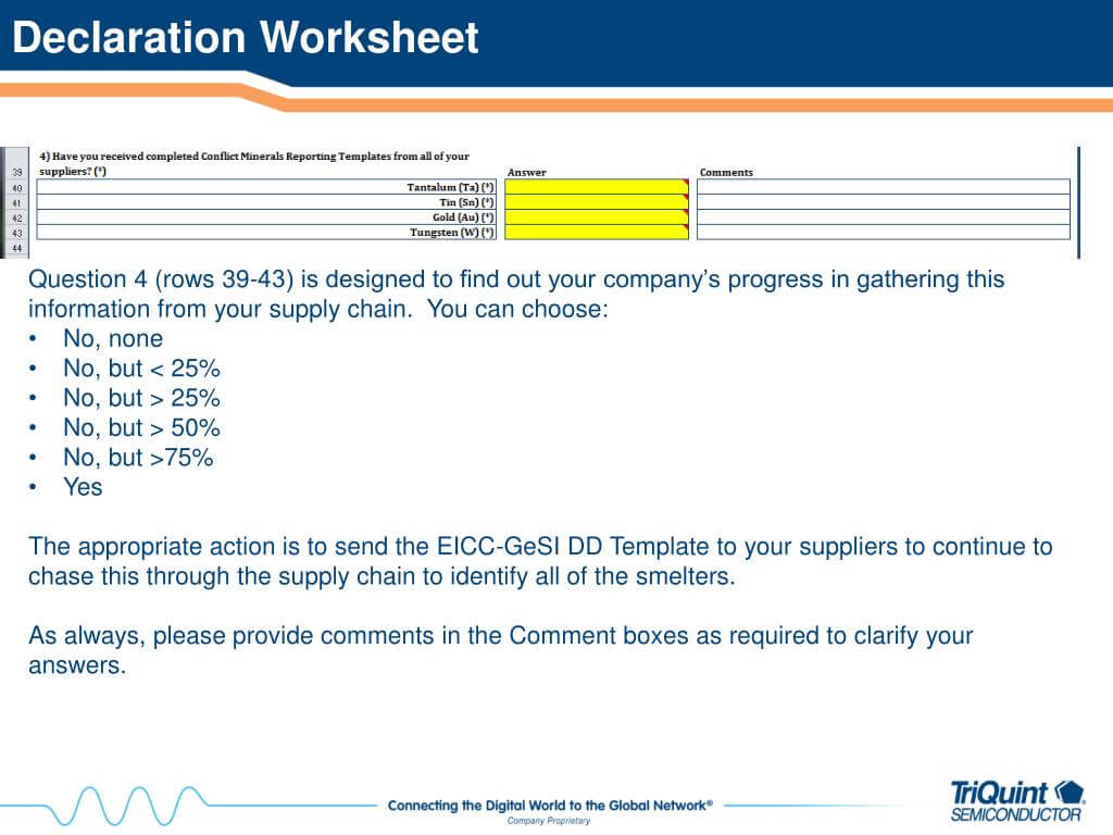Ppt – How To Complete The Eicc Gesi Conflict Minerals Due Pertaining To Eicc Conflict Minerals Reporting Template