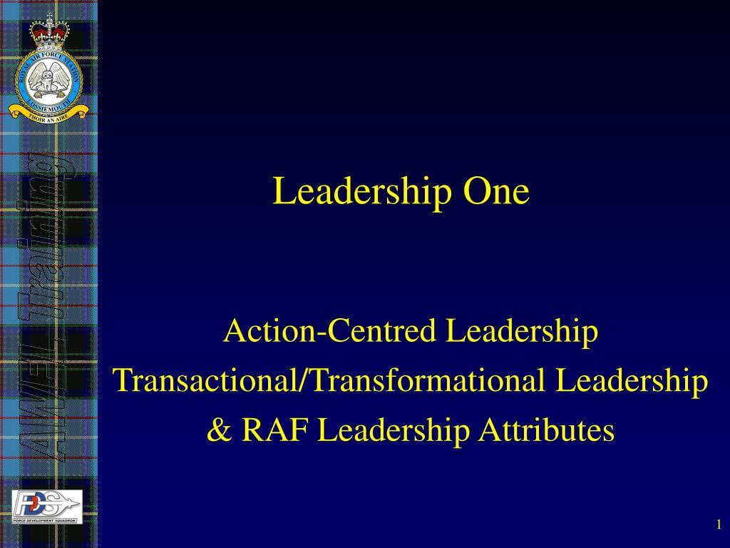 Ppt - Leadership One Powerpoint Presentation, Free Download Regarding Raf Powerpoint Template