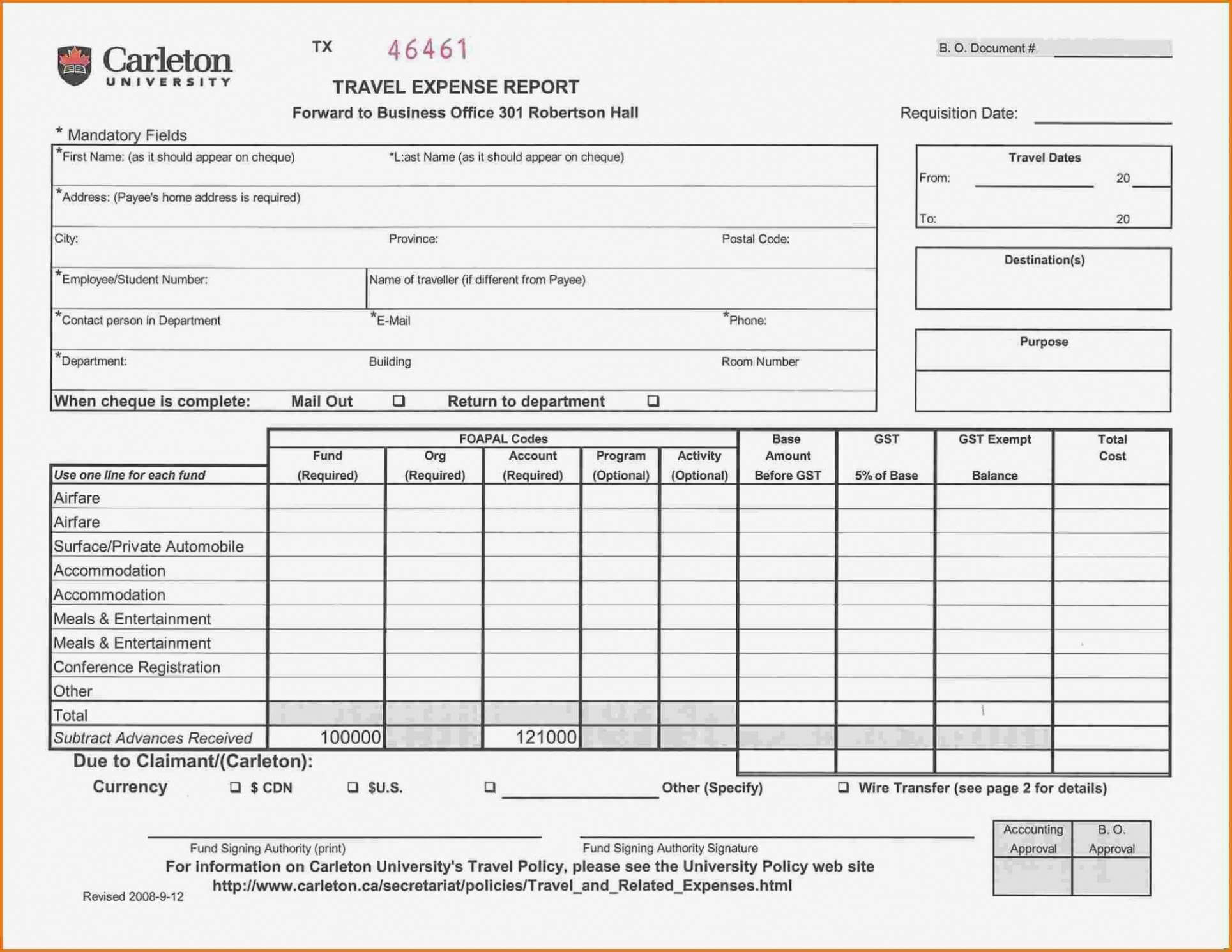 Printable Air Balance Report Form Mersnproforum Form Within Air Balance Report Template