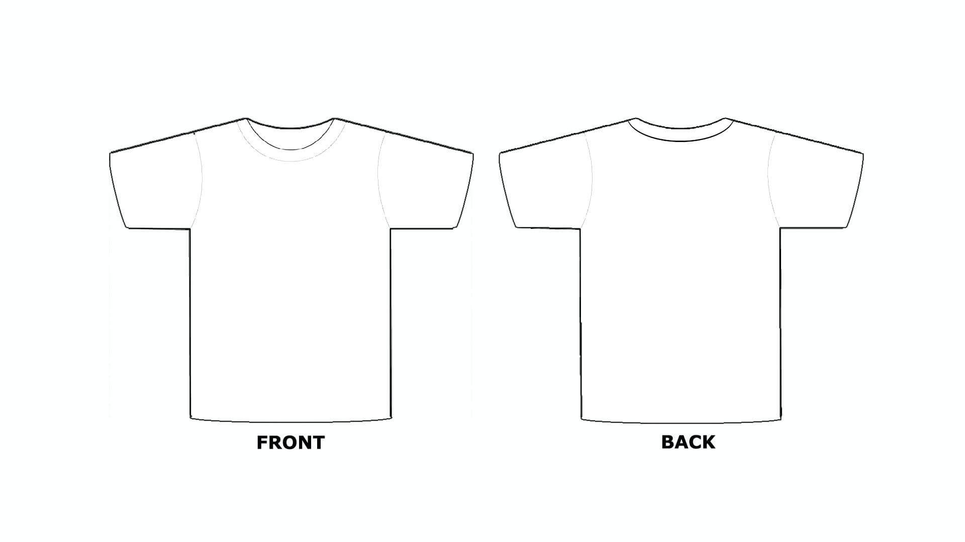 Printable Blank Tshirt Template - C Punkt Pertaining To Blank Tshirt Template Pdf