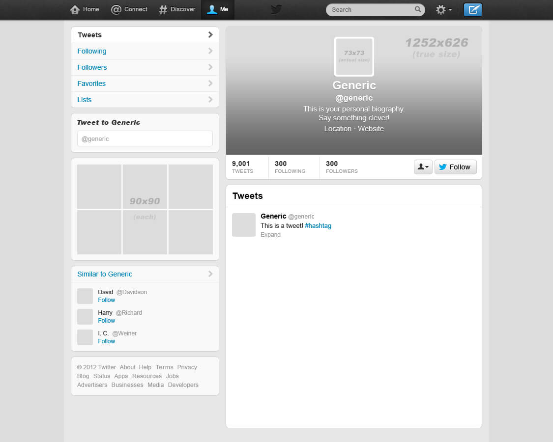 Printable Blank Tweet Pertaining To Blank Twitter Profile Template