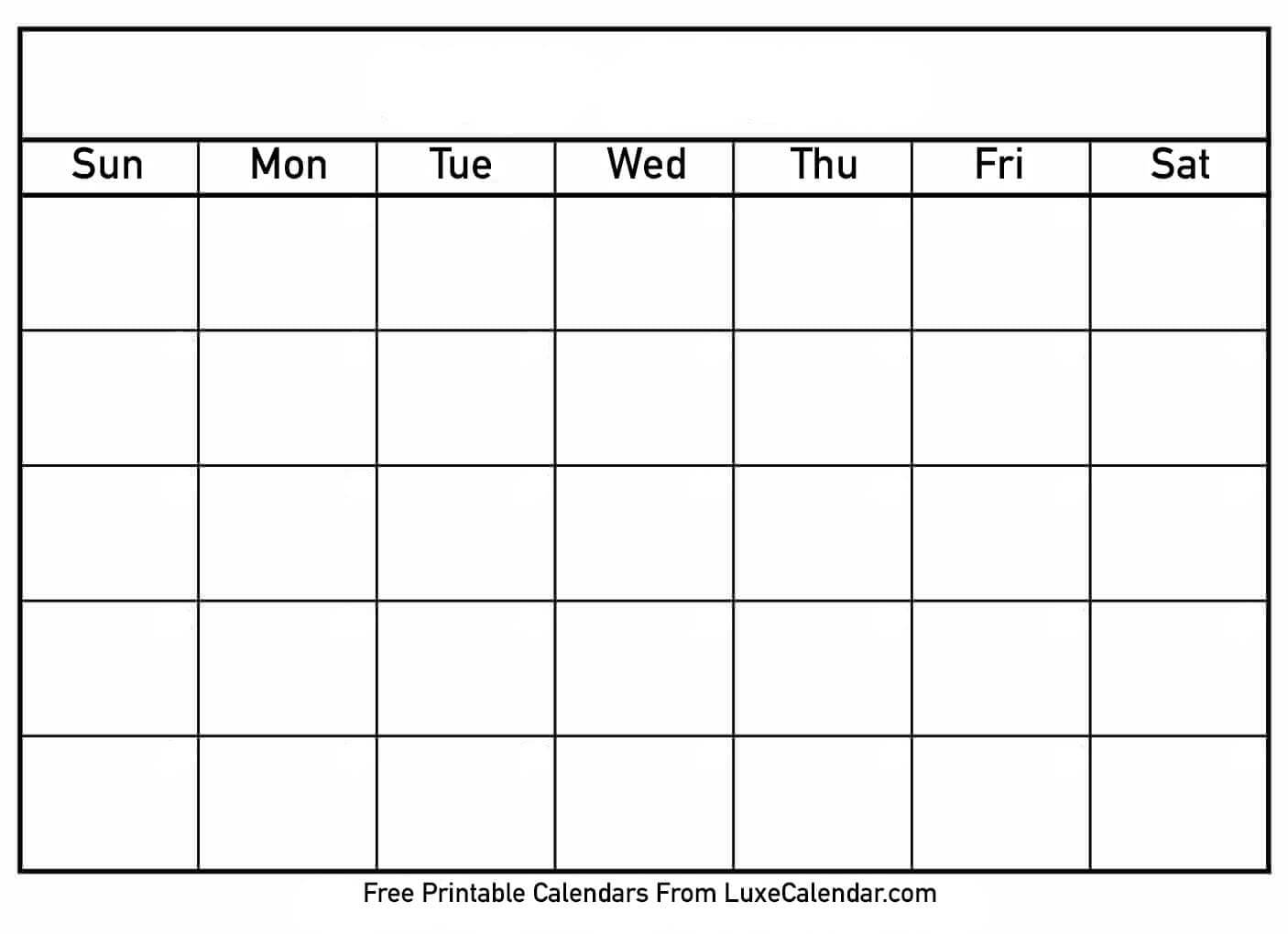 Printable Calendar Templates Full Page - Calendar For Full Page Blank Calendar Template