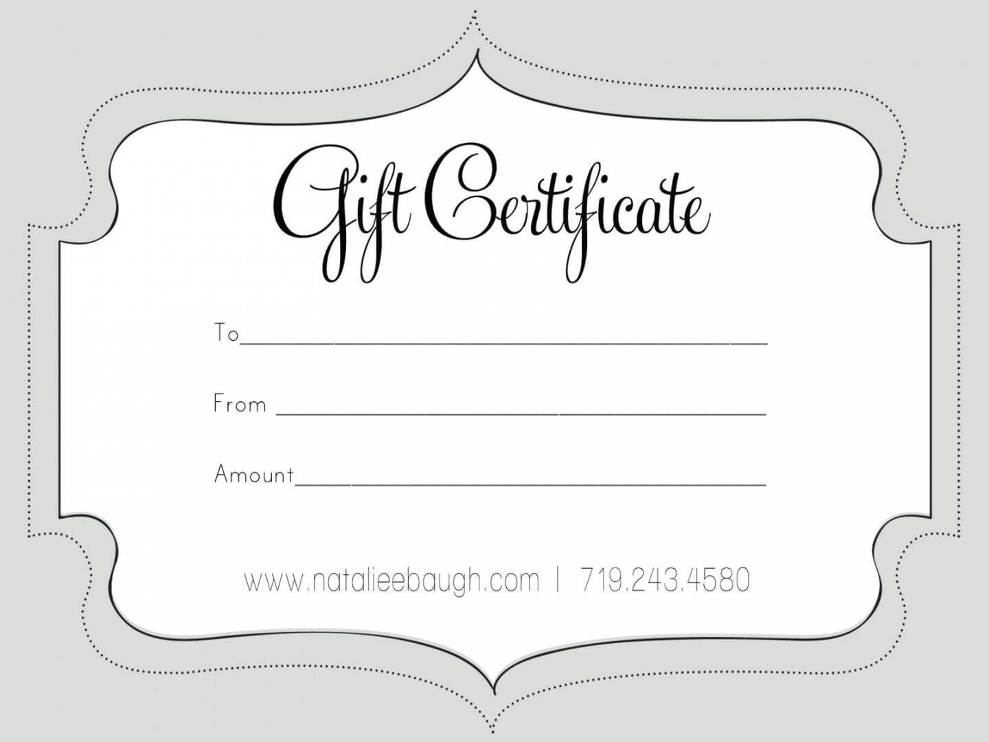 Printable Fillable Gift Certificate Template Custom Pertaining To Custom Gift Certificate Template