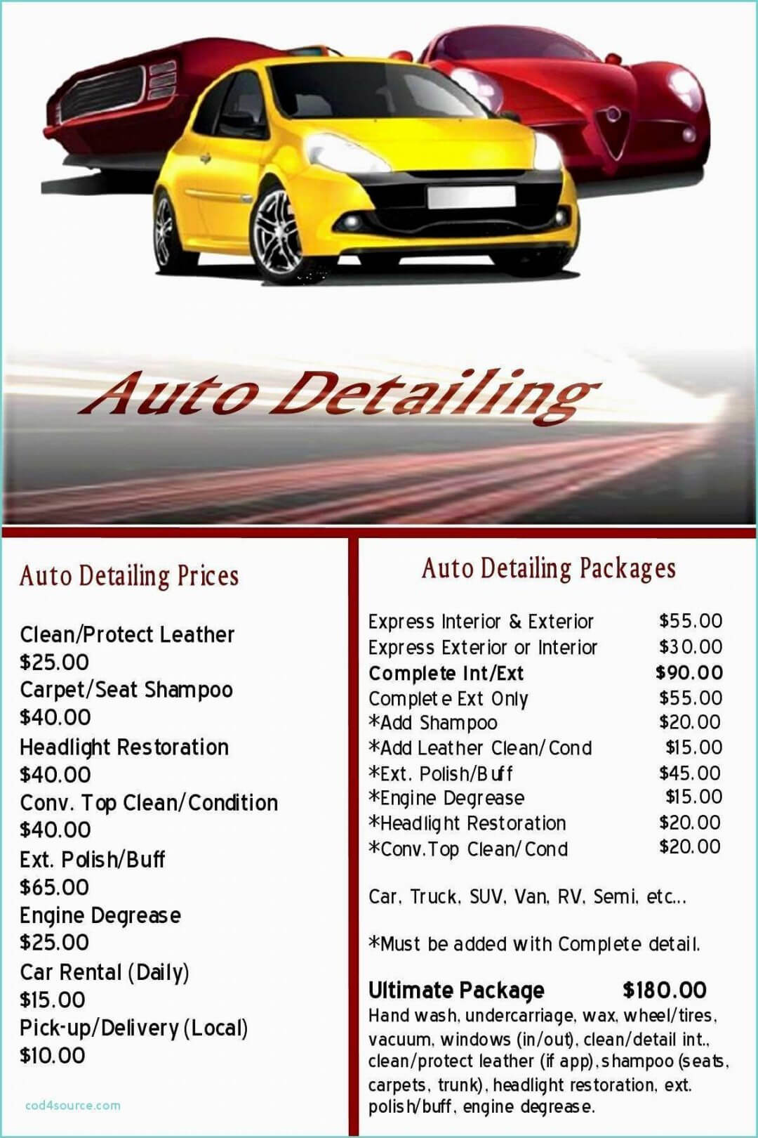 Printable Free Auto Detailing Gift Certificate Template For Automotive Gift Certificate Template