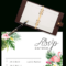 Printable Free Wedding Rsvp Template & Cards Microsoft Word With Acceptance Card Template