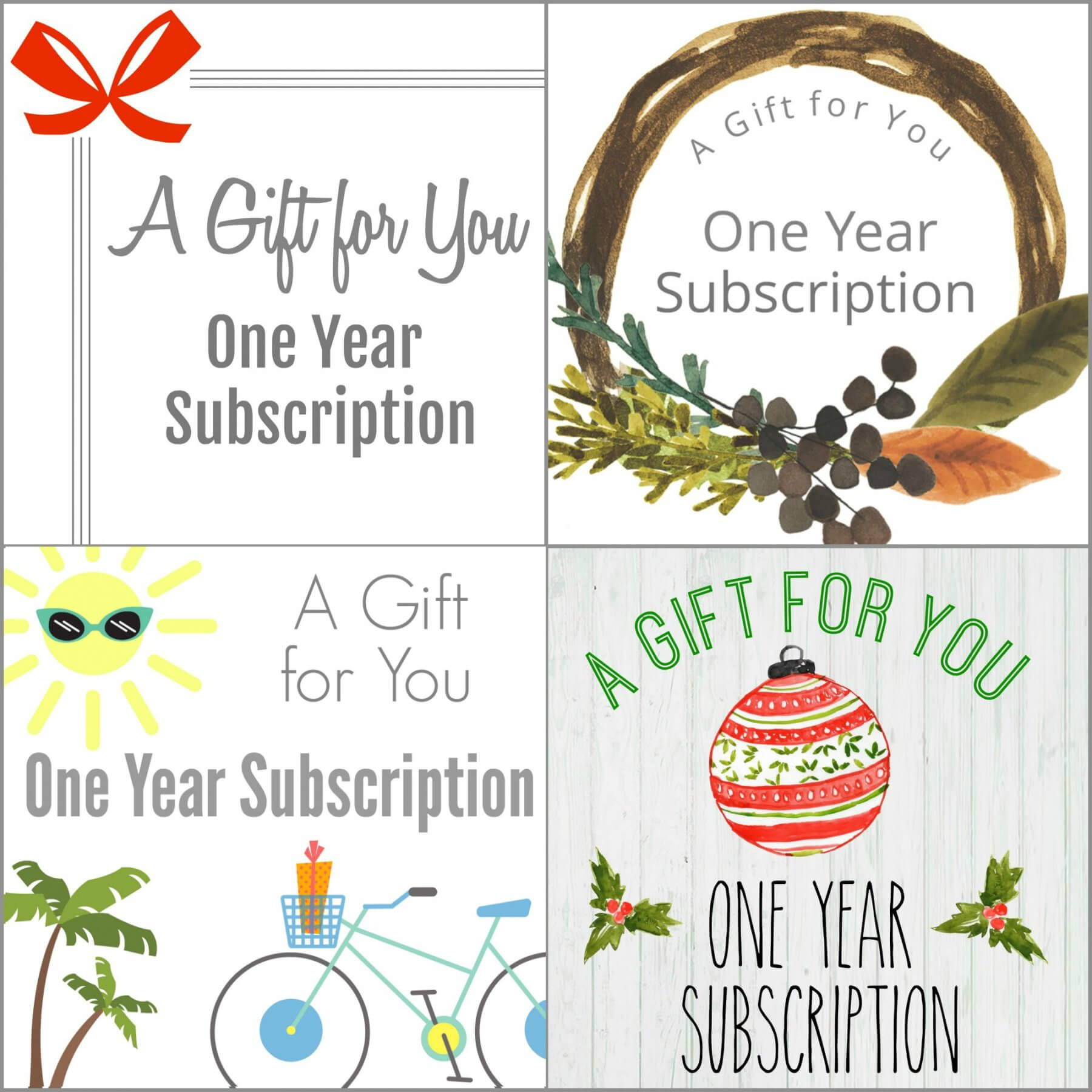 Printable Gift A Magazine Subscription With Our Free Throughout Magazine Subscription Gift Certificate Template
