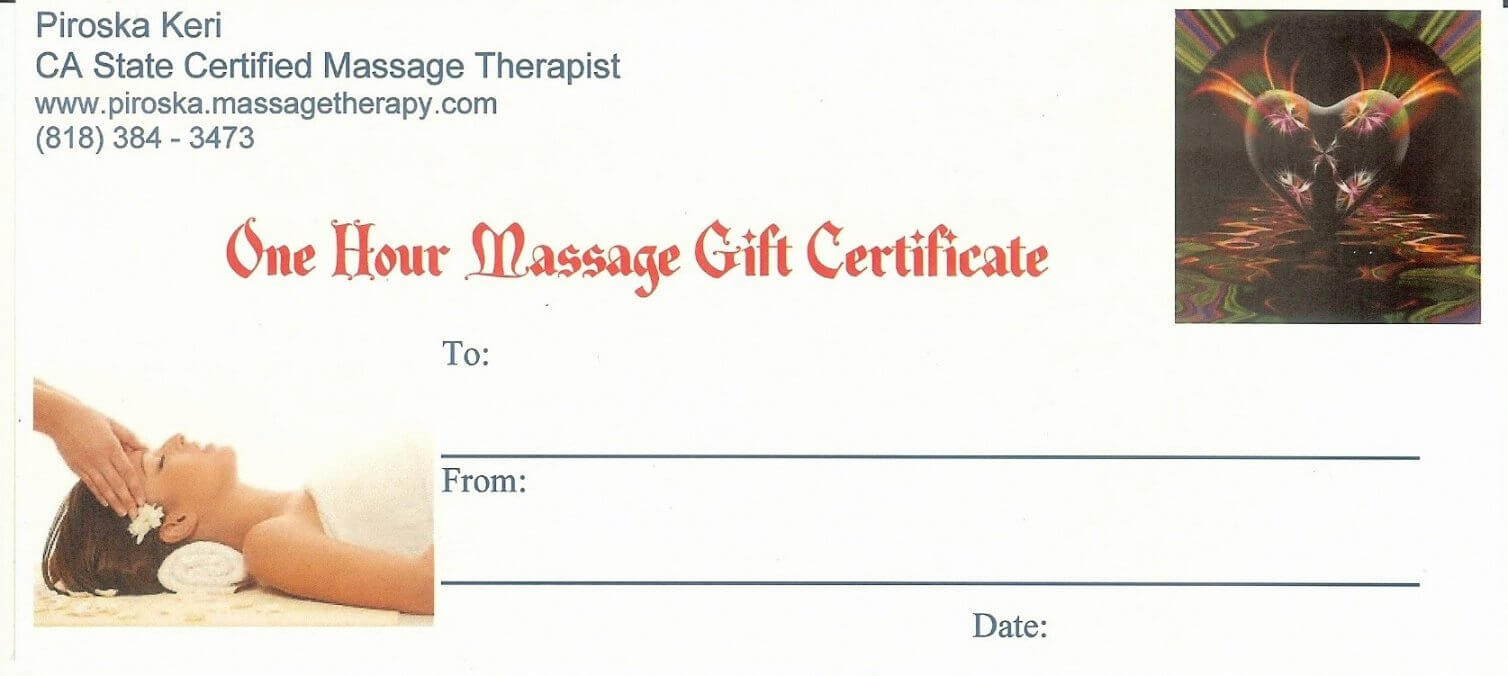 Printable Gift Certificate Template Massage Best Of Intended For Massage Gift Certificate Template Free Printable