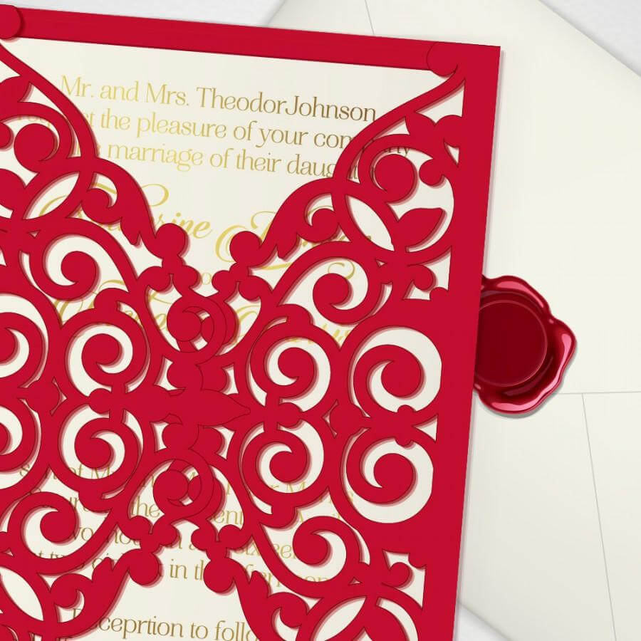 Printable Laser Cut Wedding Invitation Template, Vector For Free Svg Card Templates