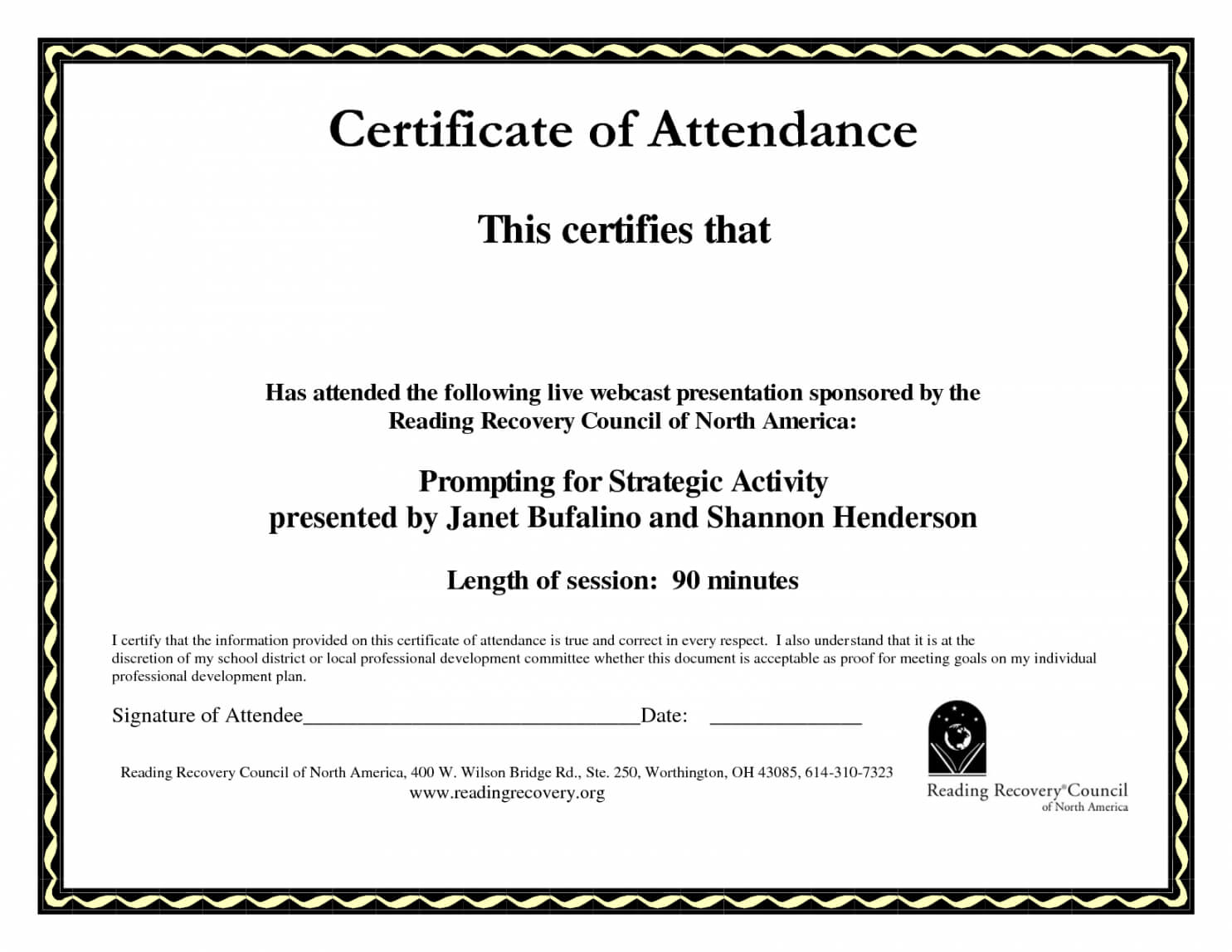 Printable Perfect Attendance Certificate Template Word Throughout Perfect Attendance Certificate Template