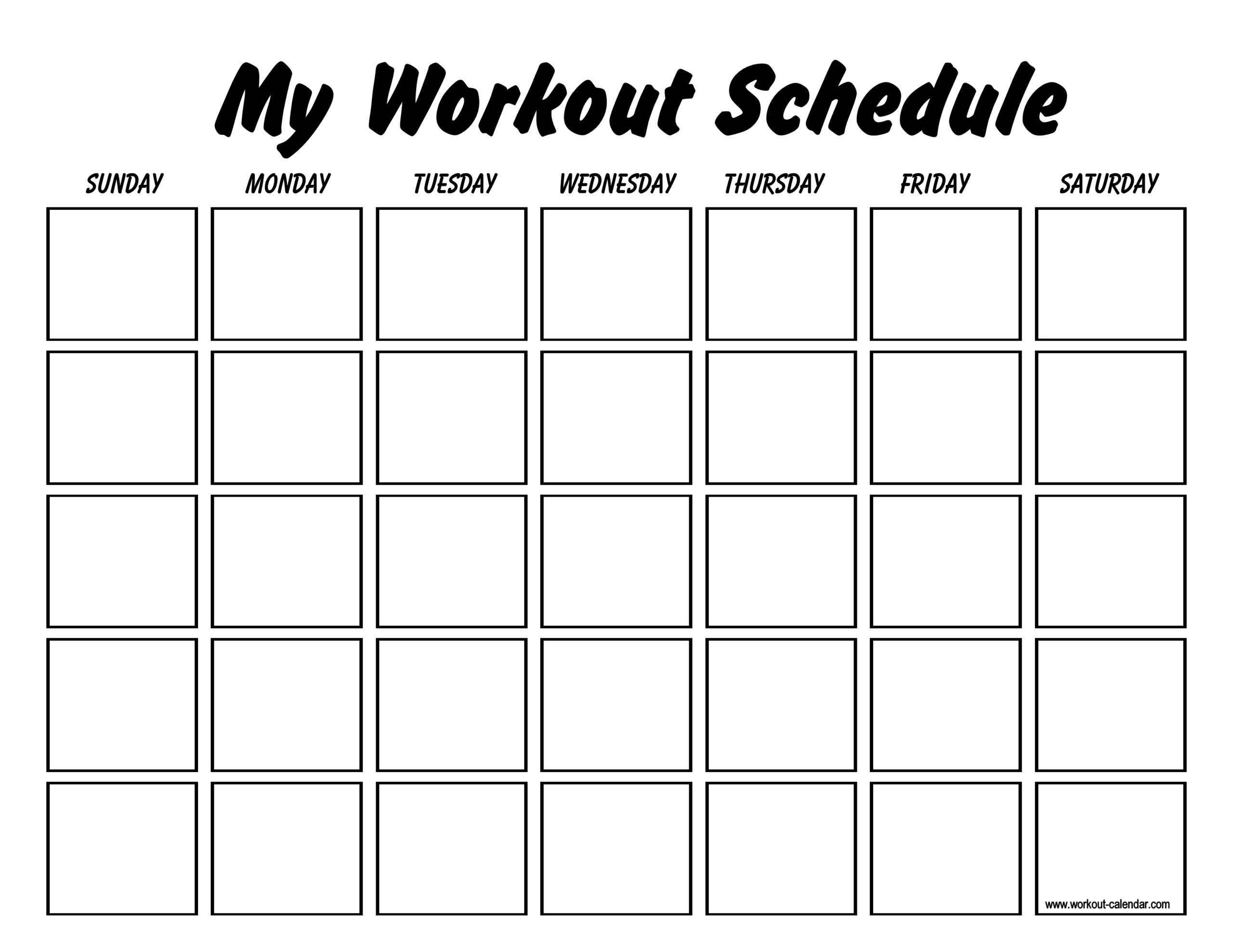 Printable Workout Log Sheets | Templates At Throughout Blank Workout Schedule Template