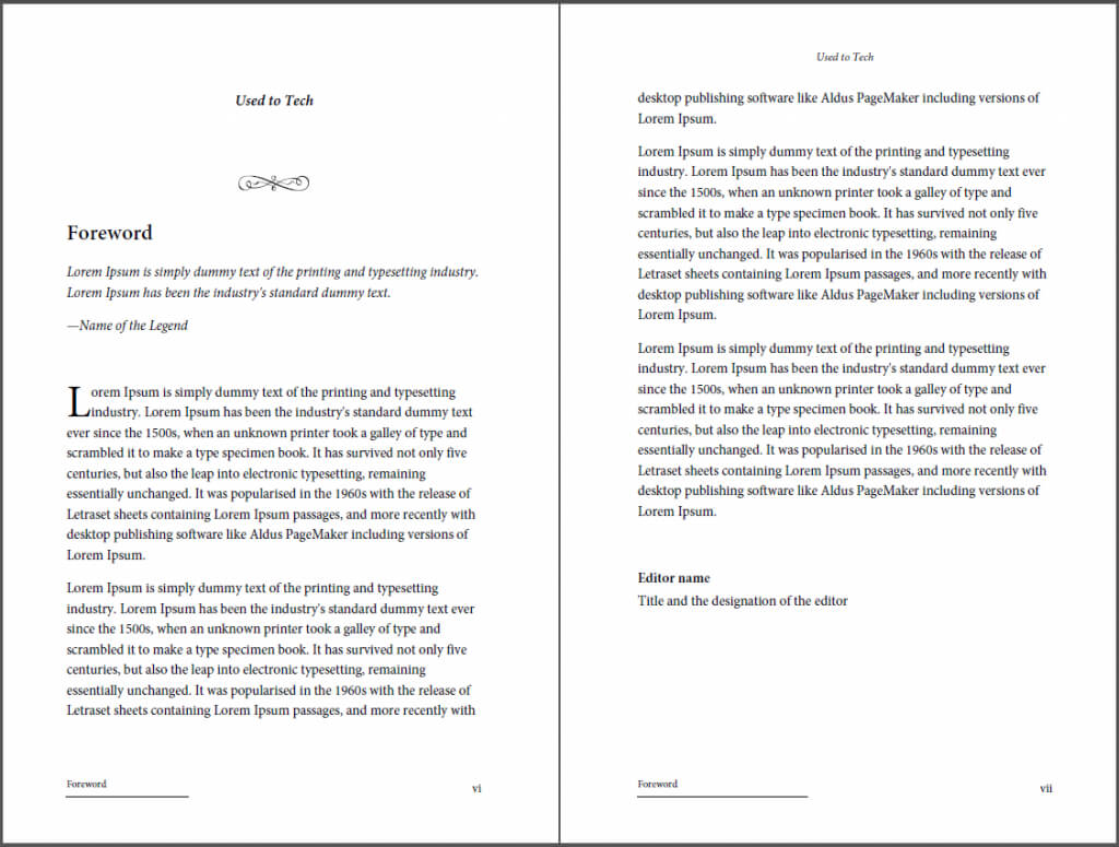 Professional Looking Book Template For Word, Free - Used To Tech For 6X9 Book Template For Word