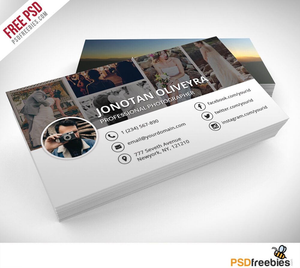 Professional Photographer Business Card Psd Template Freebie Intended For Photography Business Card Template Photoshop