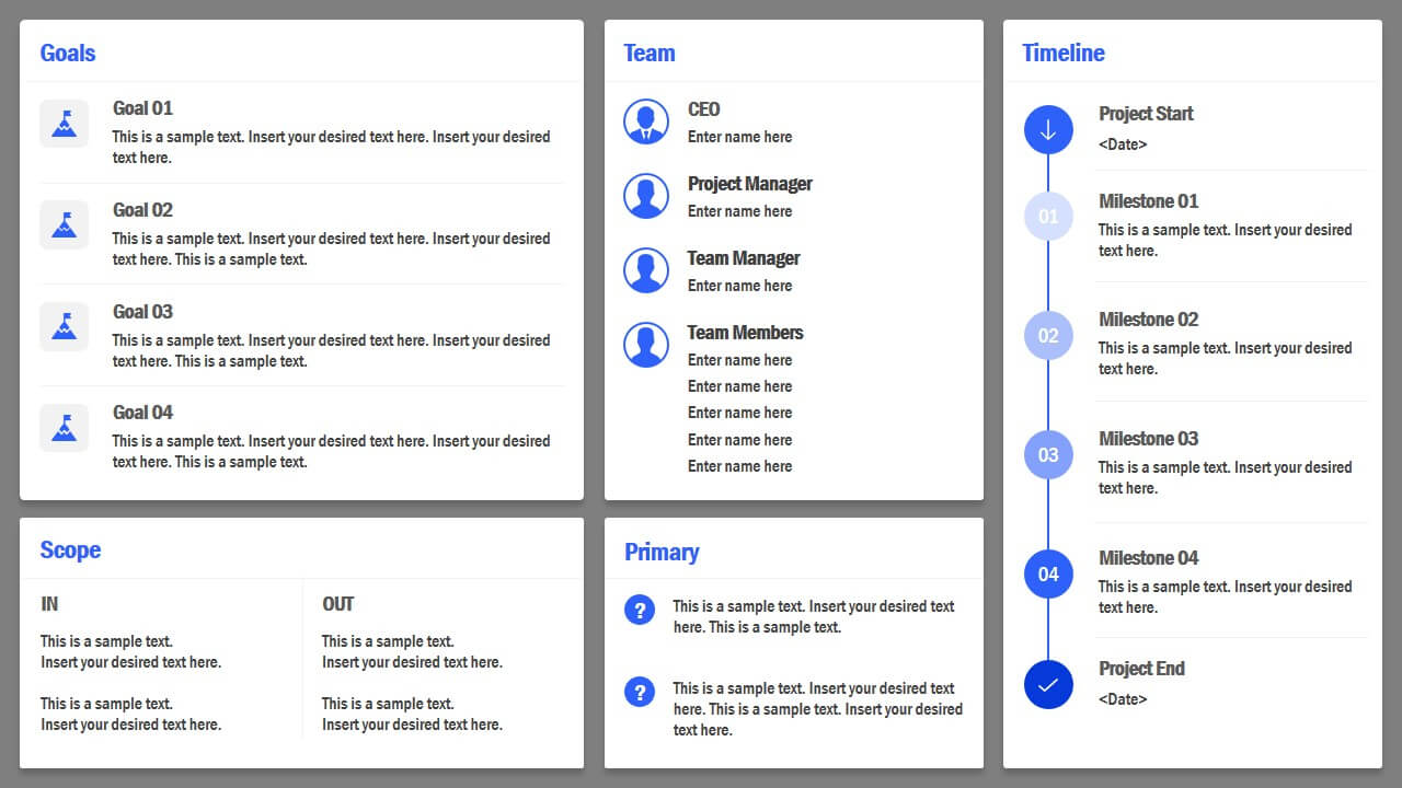 Project Charter Powerpoint Template With Team Charter Template Powerpoint