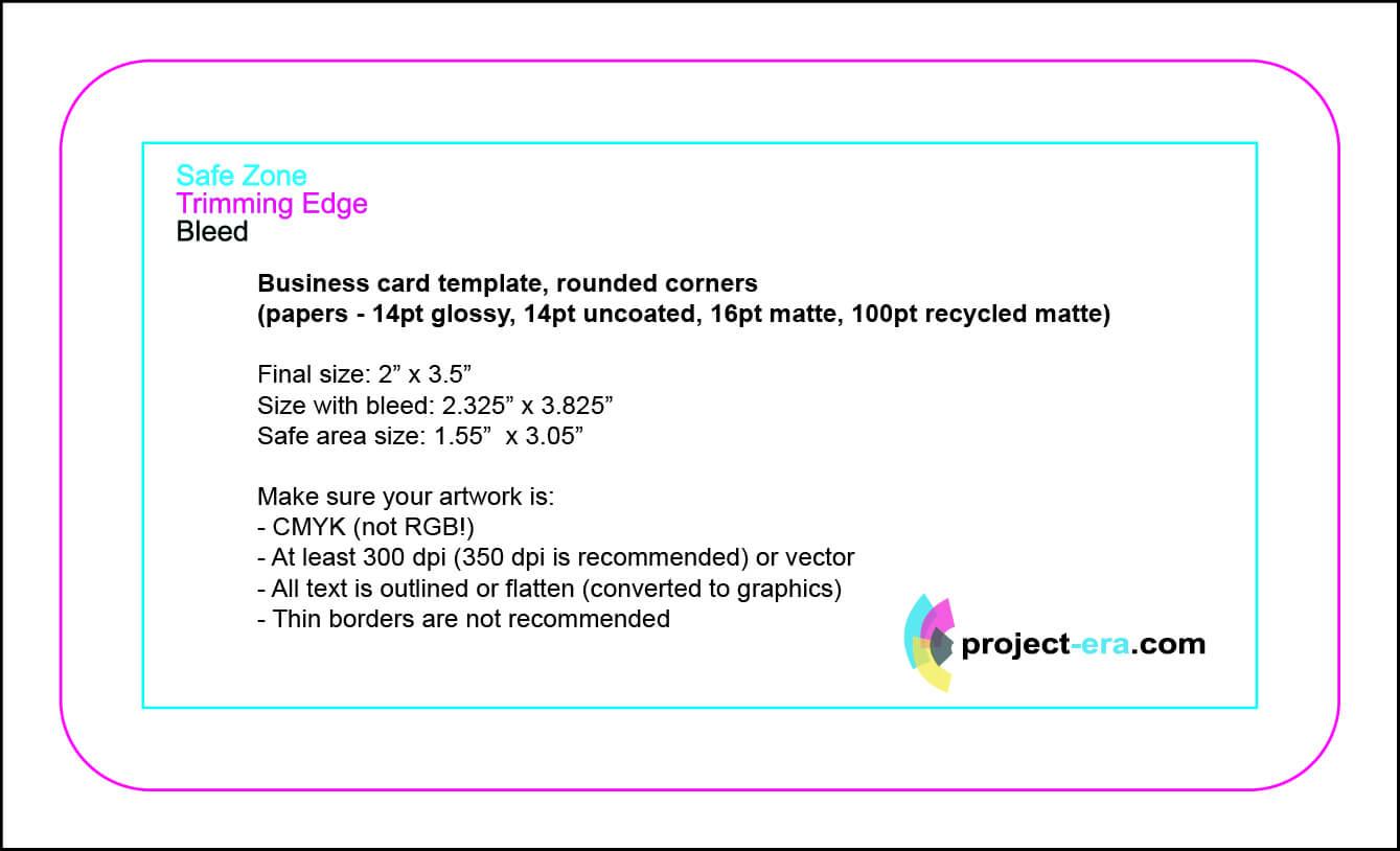 Project Era – Print & Design Services – Print Templates Regarding Business Card Size Photoshop Template