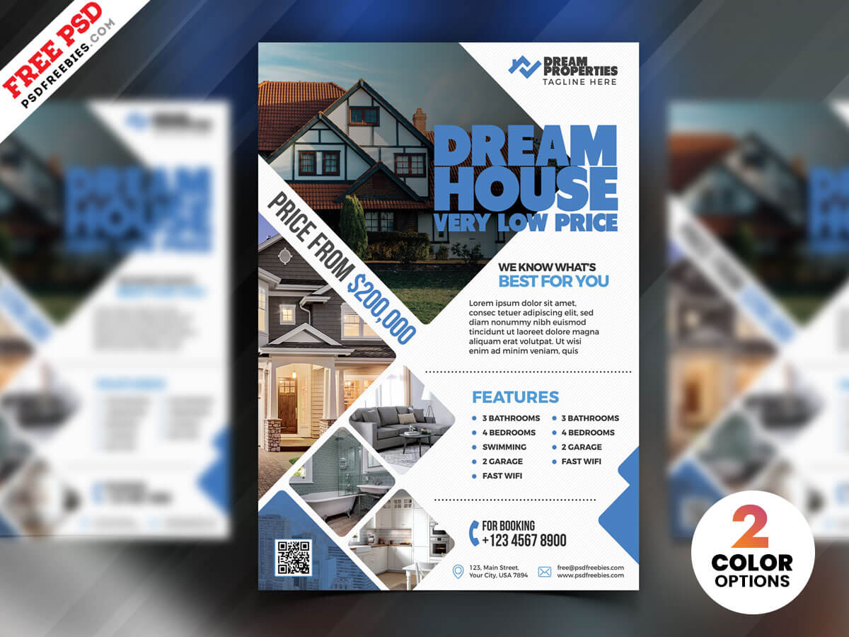 Real Estate Flyer Design Psd | Psdfreebies Inside Real Estate Brochure Templates Psd Free Download
