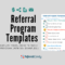 Real Life Referral Program Templates That You Can Steal Regarding Referral Card Template