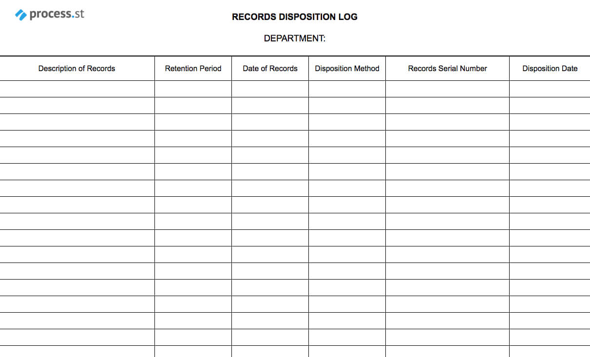 Records Disposal Checklist | Process Street With Regard To Certificate Of Disposal Template