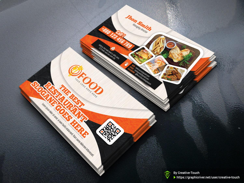 Restaurant Business Card Templatecreative Touch On Dribbble Inside Call Card Templates