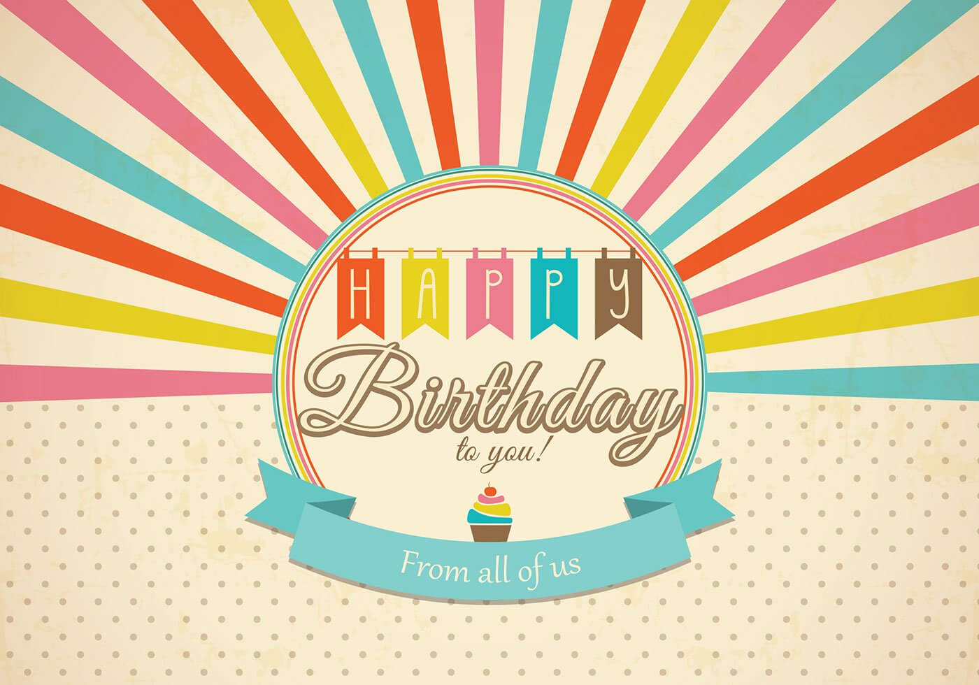 Retro Happy Birthday Card Psd - Free Photoshop Brushes At Within Photoshop Birthday Card Template Free