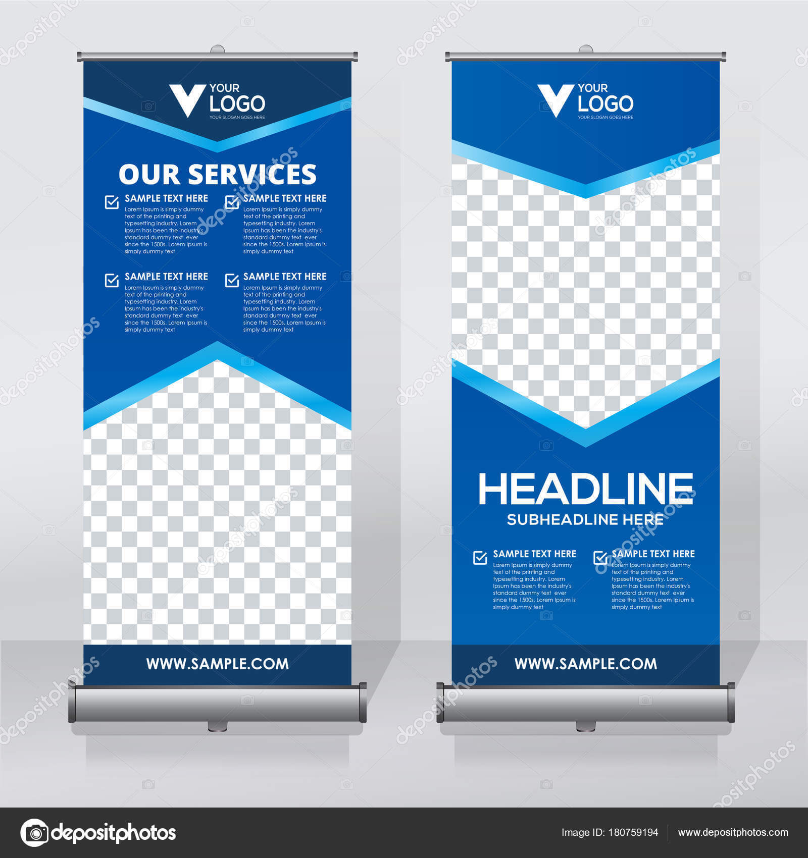 Roll Banner Design Template Vertical Abstract Background With Retractable Banner Design Templates