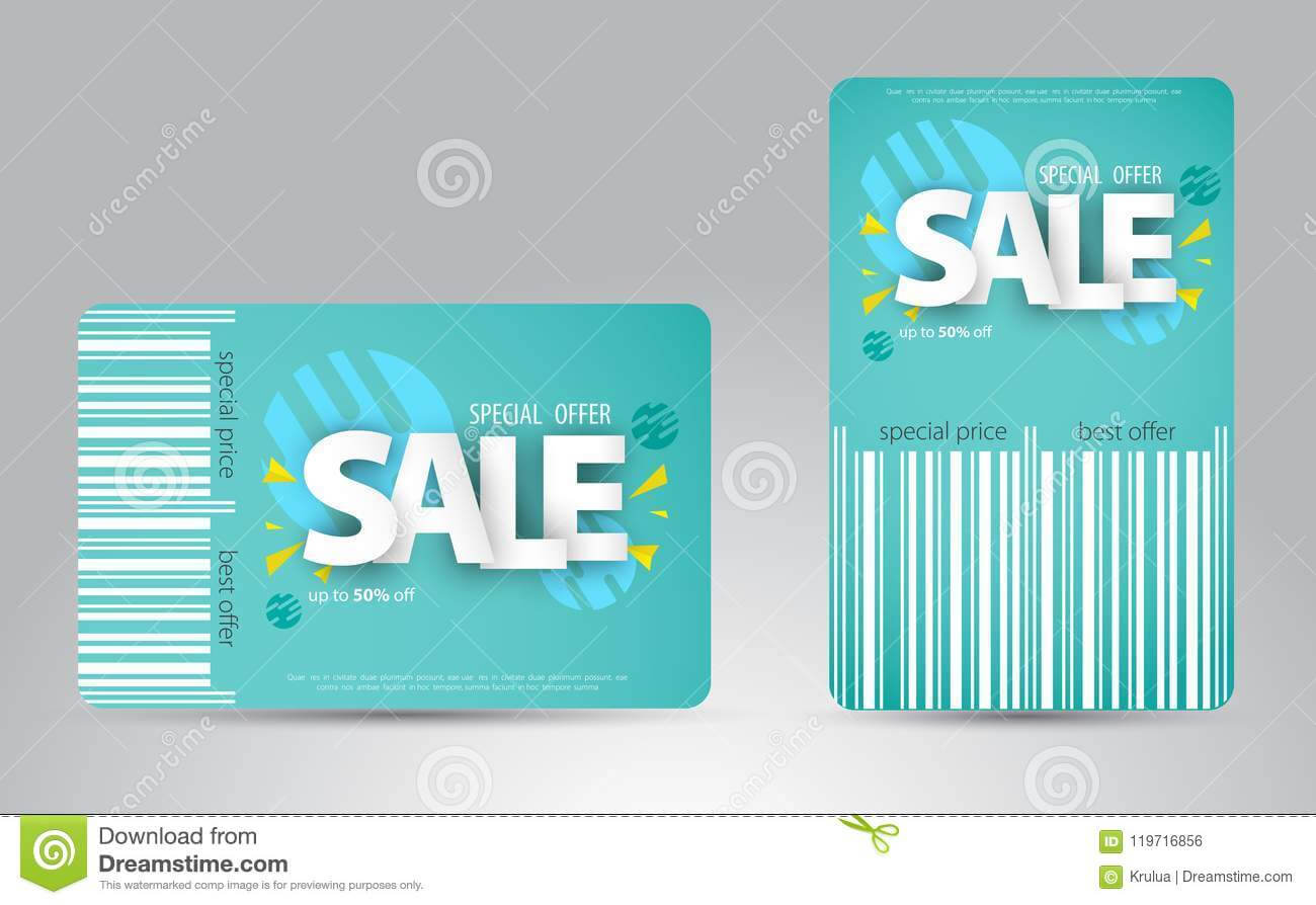 Sale Card Template Design For Your Business. Stock Vector For Credit Card Templates For Sale