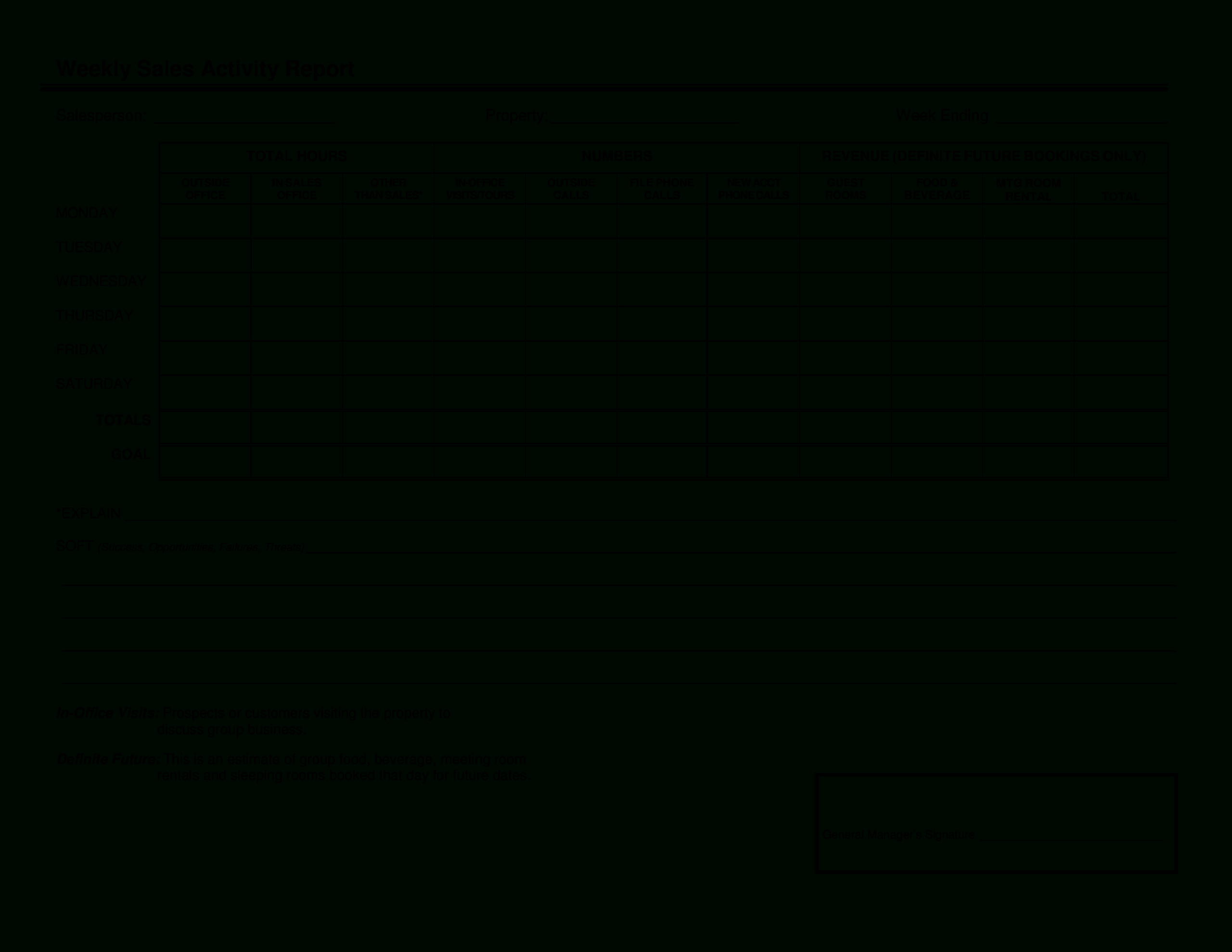 Sales Activity Report Template Free Download - Yatay Pertaining To Sales Rep Visit Report Template