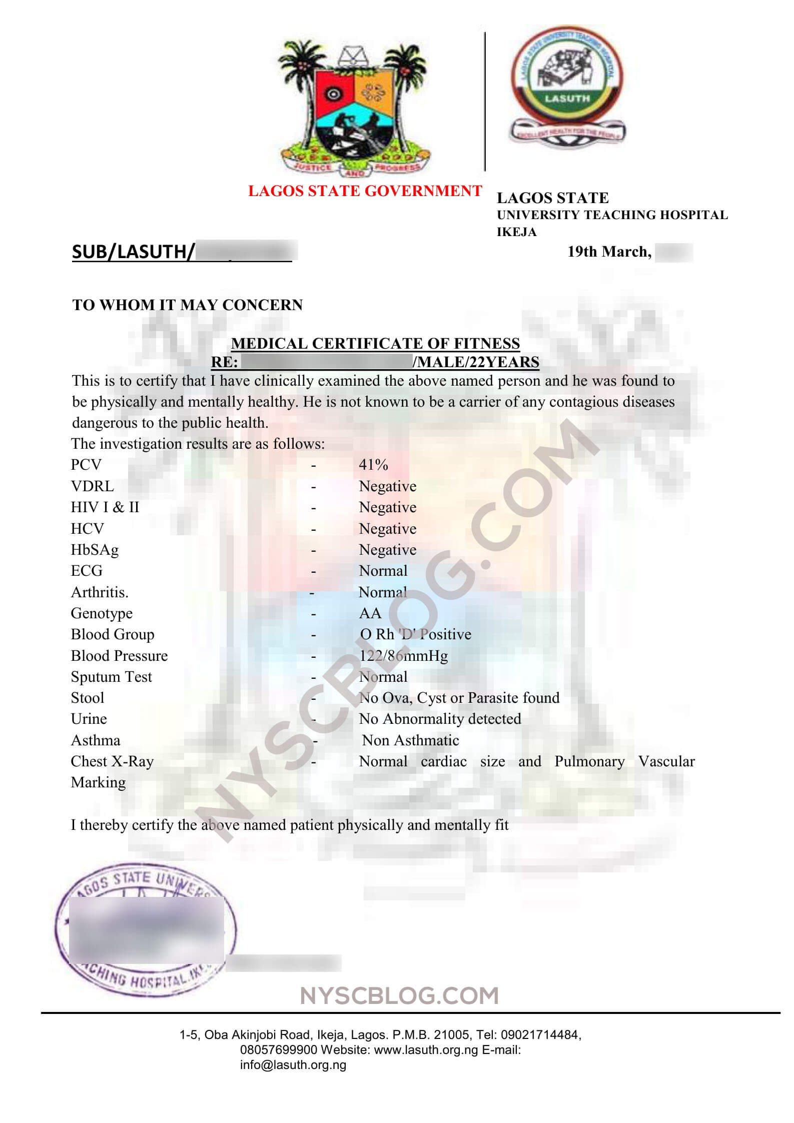 Sample Fitness Certificate From Doctor - Yatay With Regard To Australian Doctors Certificate Template