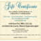 Sample Of A Gift Certificate | Certificatetemplategift Within This Entitles The Bearer To Template Certificate