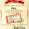 """Santa """"nice List"""" Free Printable Certificate Pertaining To Letter From Santa Template Word"""