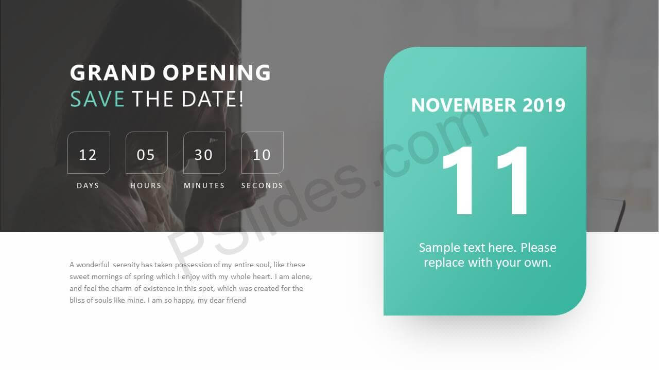 Save The Date Ppt Slide - Pslides For Save The Date Powerpoint Template