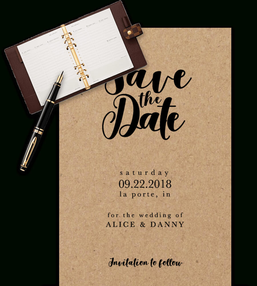 Save The Date Templates For Word [100% Free Download] With Regard To Save The Date Powerpoint Template