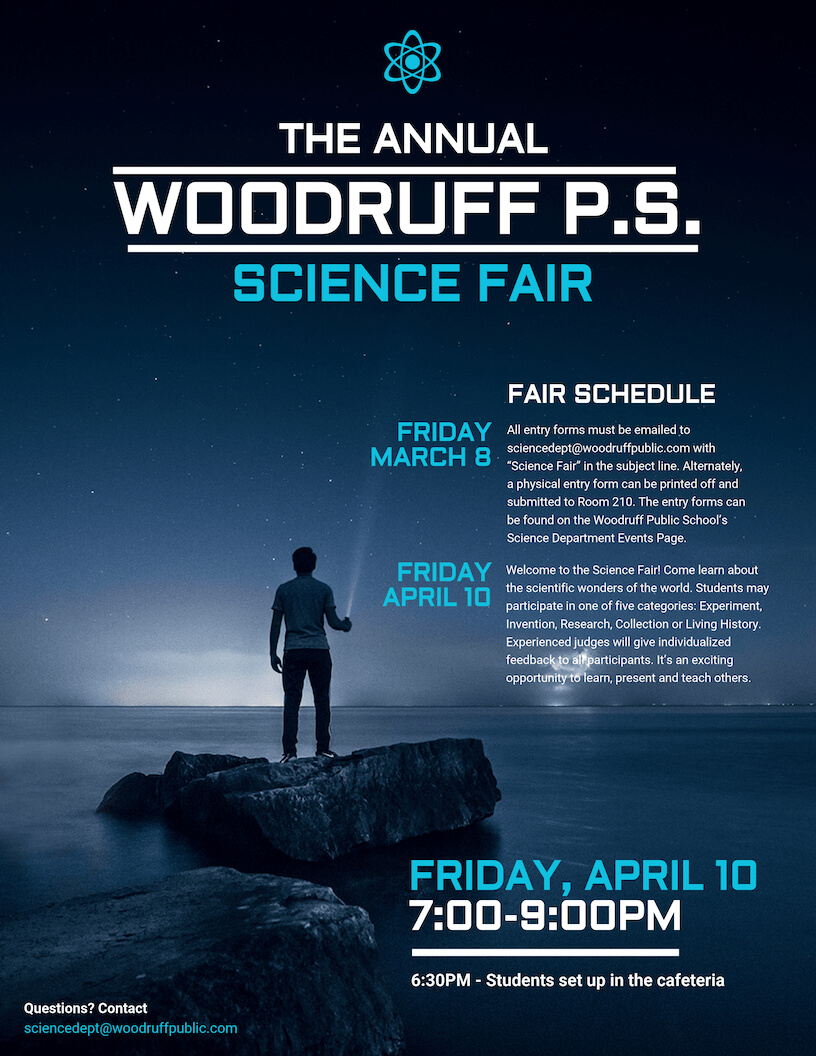 Science Fair Event Poster For Science Fair Banner Template