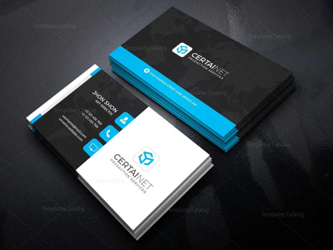 Security Company Corporate Business Card Template 000925 Regarding Company Business Cards Templates