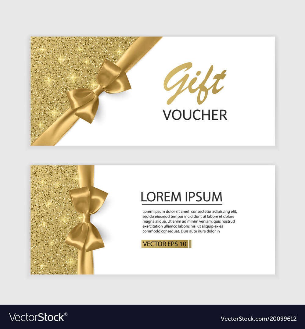 Set Of Gift Voucher Card Template Advertising Or Within Advertising Card Template