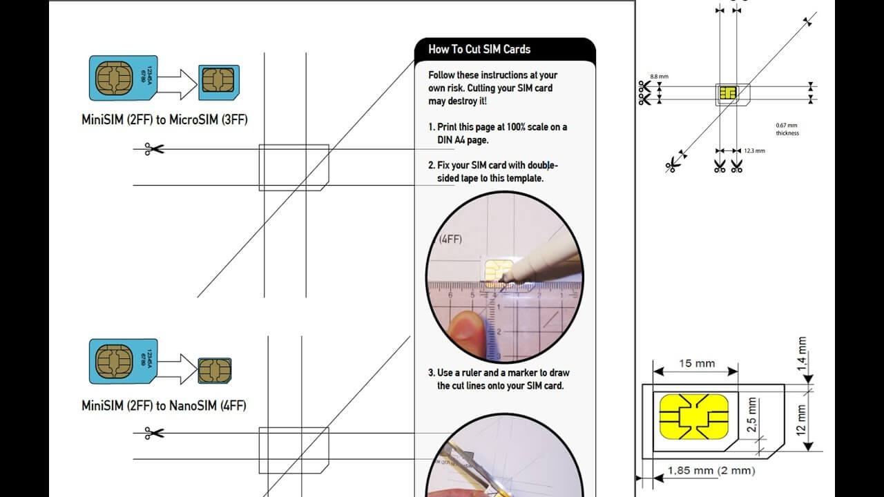 Sim Card Template Nano | Refference Cv Samples In Sim Card Cutter Template