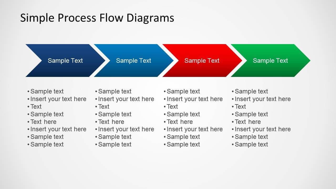 Simple Chevron Process Flow Diagram For Powerpoint For Powerpoint Chevron Template