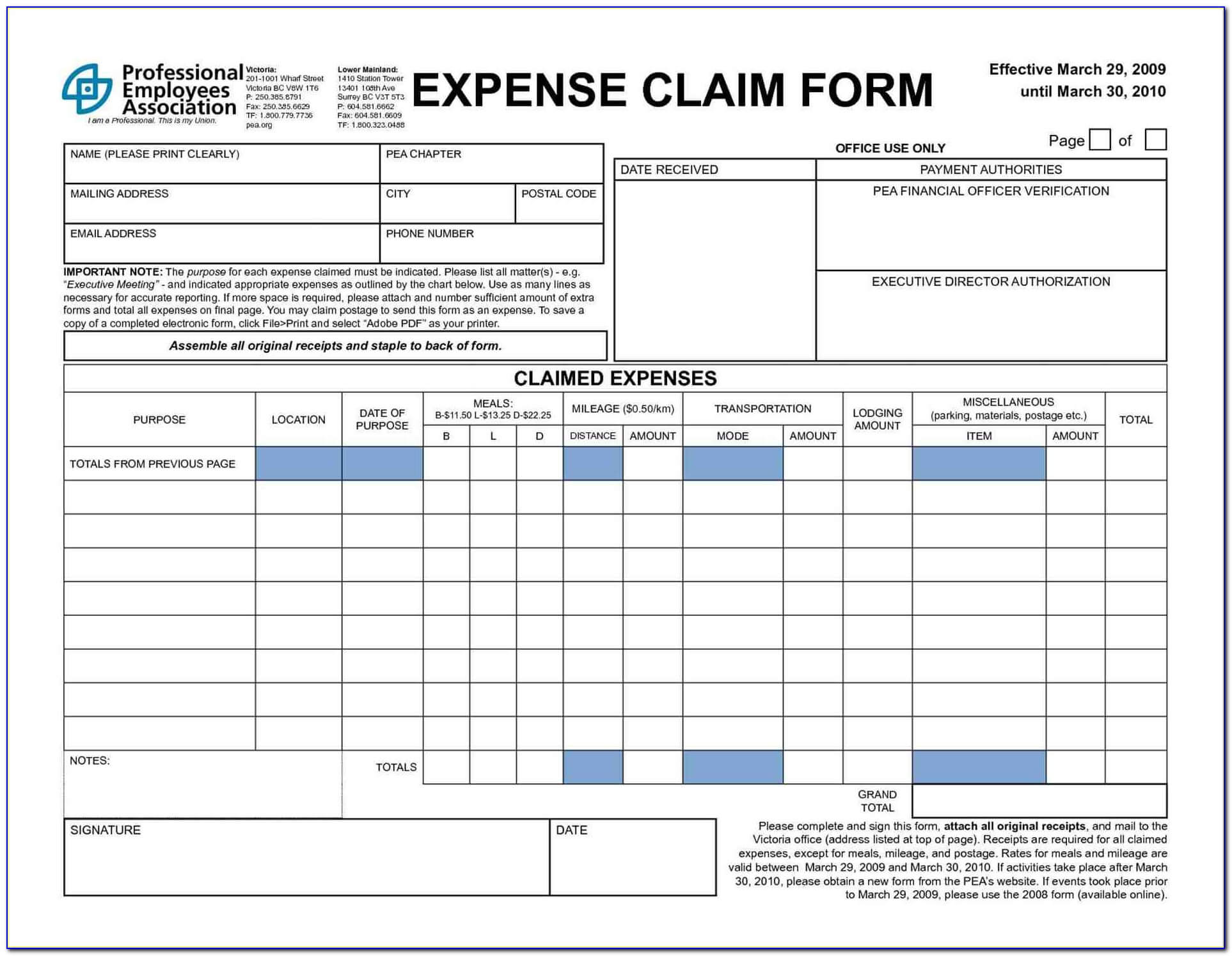 Simple Expense Reimbursement Form – Form : Resume Examples Within Reimbursement Form Template Word