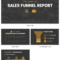 Simple Sales Funnel Report With Sales Funnel Report Template