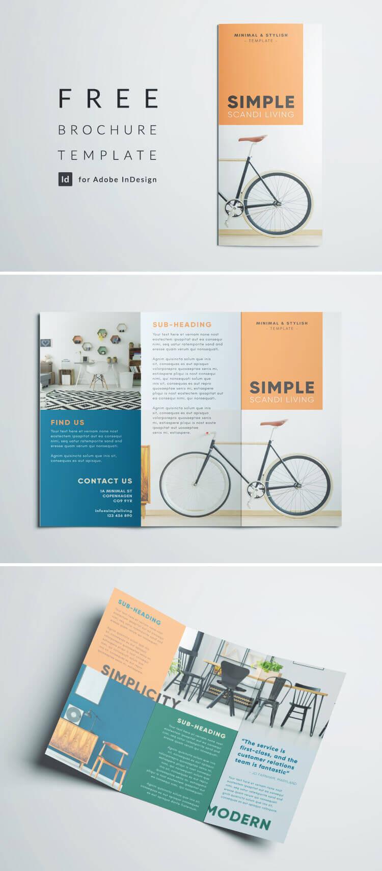 Simple Tri Fold Brochure | Free Indesign Template Regarding Brochure Template Indesign Free Download