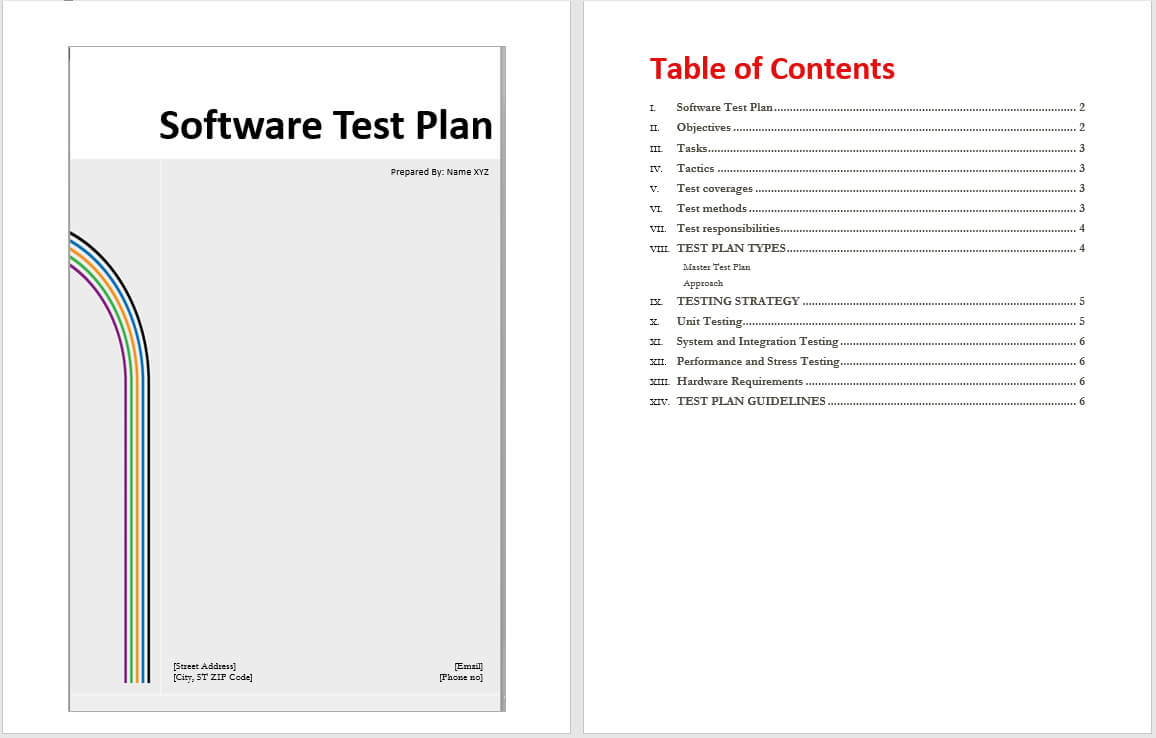 Software Test Plan Template - Word Templates In Software Test Plan Template Word