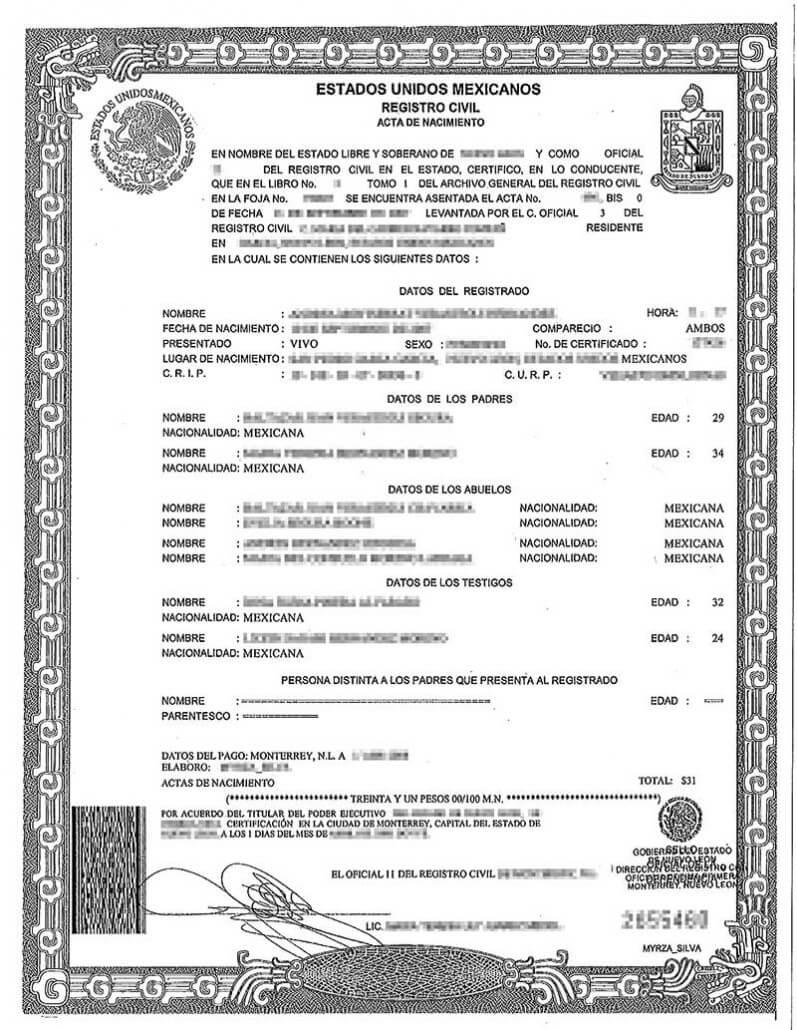 Spanish Birth Certificate Translation | Burg Translations Within Birth Certificate Translation Template English To Spanish
